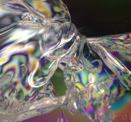 I am melting...Transition Quantum Sculpture in Light & Plastics 2015 30x30x30cm