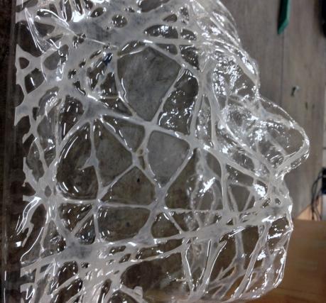 String Theory 2015 Portrait in plastic 30x30x35cm Eureka